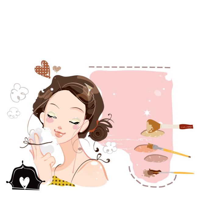 时尚现代美妆女孩图片