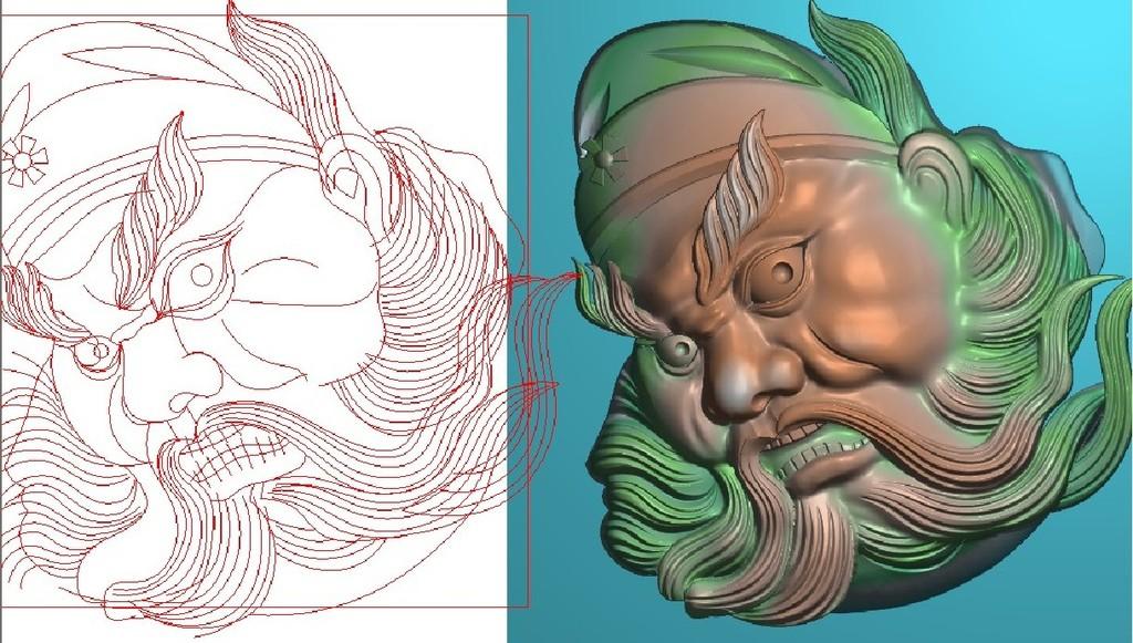 木雕图玉雕文玩雕刻图钟馗头