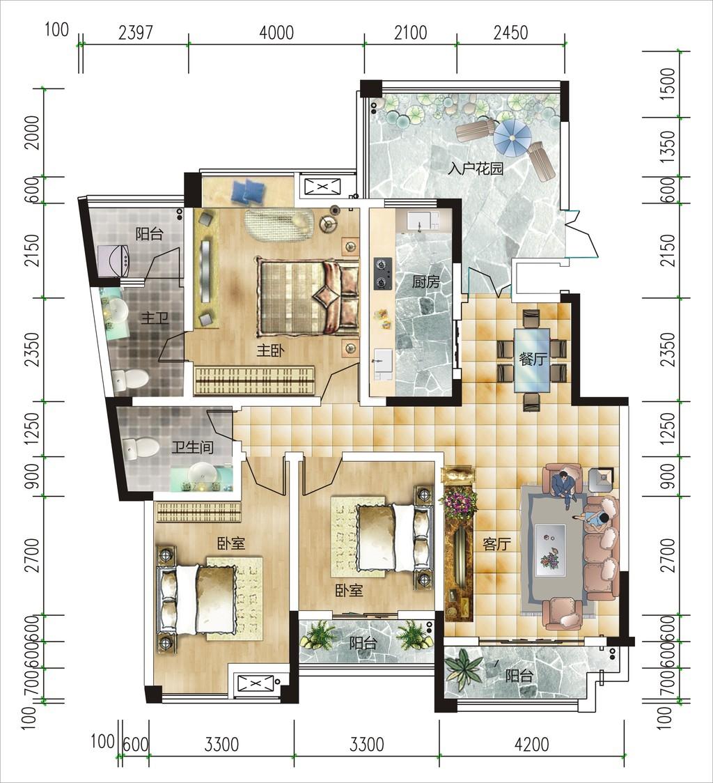 房地产高档户型图设计