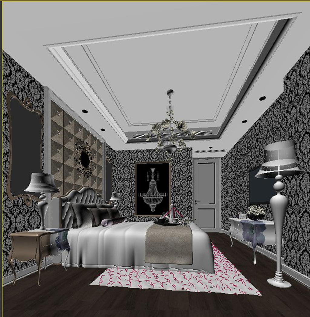 欧式卧室模型素材图片下载