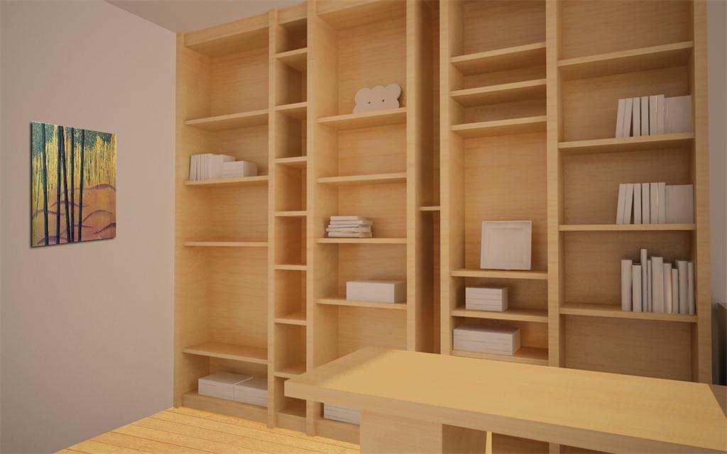 书房书柜效果图