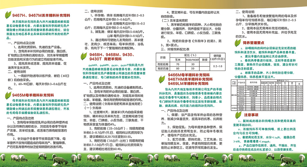 生物科技公司产品说明书模板下载 生物科技公司产品说明书图片下载 羊