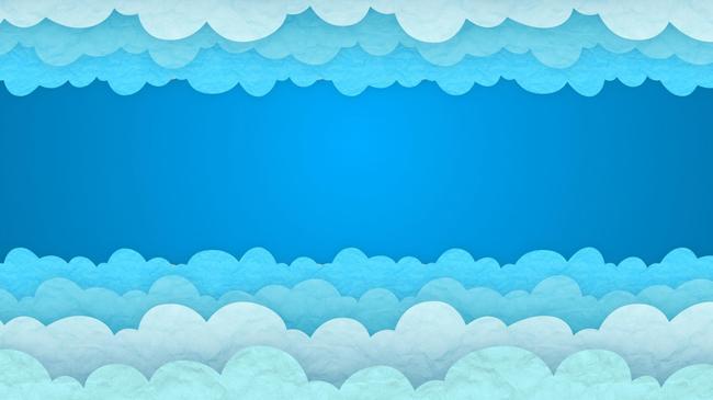 儿童卡通云彩流动视频素材