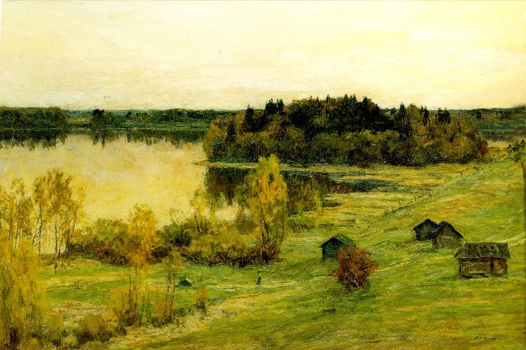田园乡村风景油画无框画