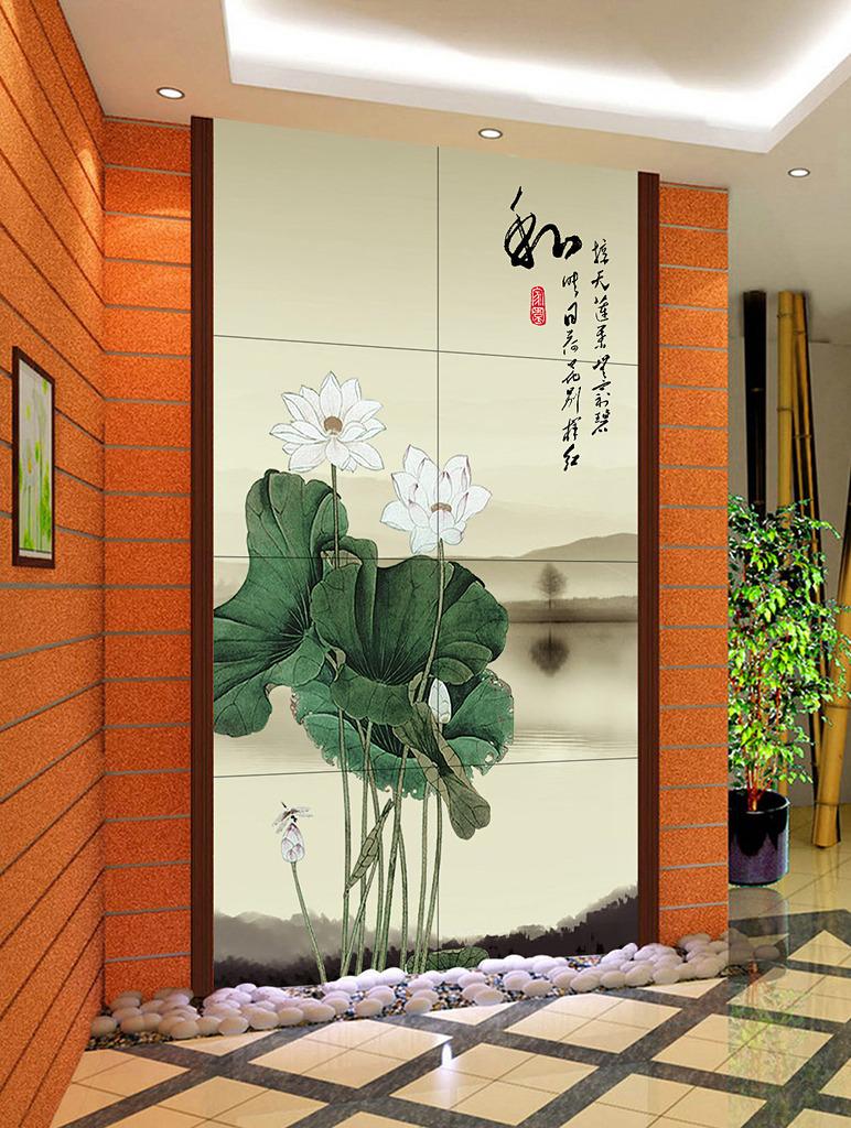 背景墙|装饰画 玄关 山水花鸟玄关图图片