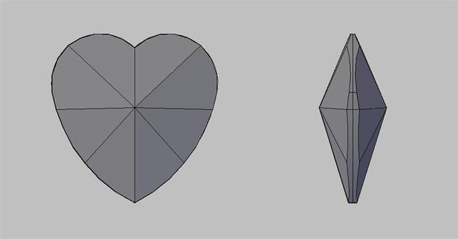 40#心形水晶水晶cad灯饰挂件设计绘图