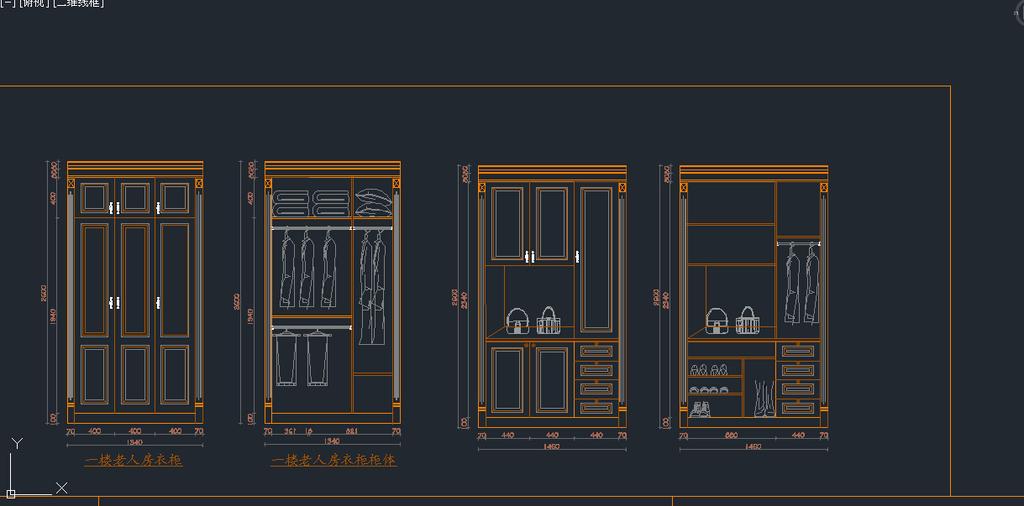 38款衣柜cad图库模板下载(图片编号:12426331)