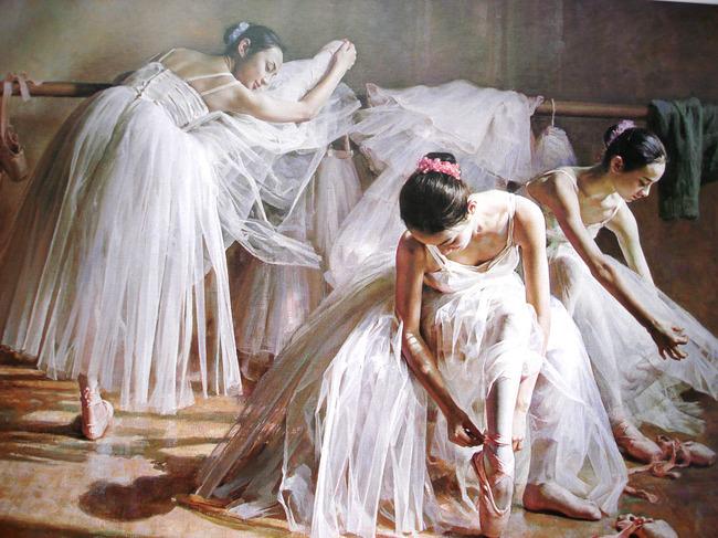 背景墙 装饰画 油画 人物油画 > 高清芭蕾舞舞蹈女孩子下载  下一张&