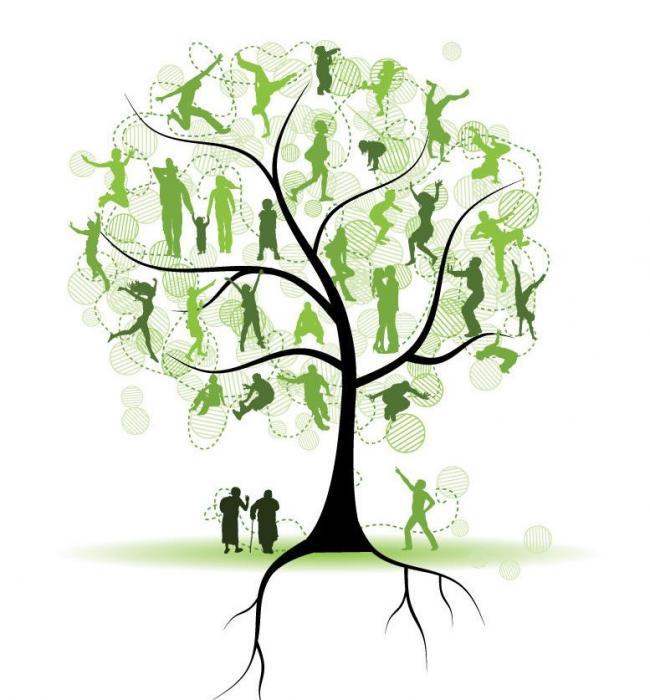 绿树上花样人物剪影图片