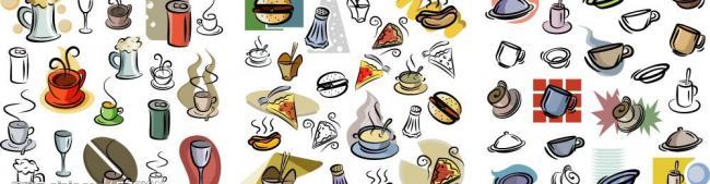手绘食品饮料图片