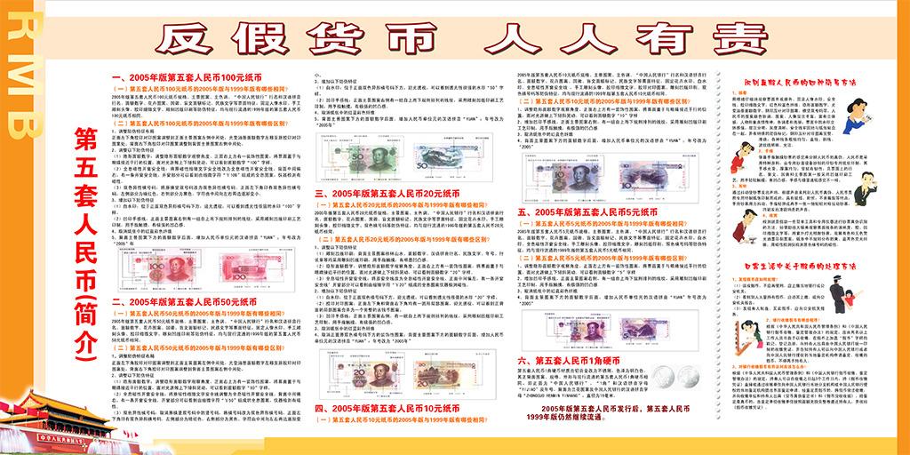 银行反人民币宣传展板