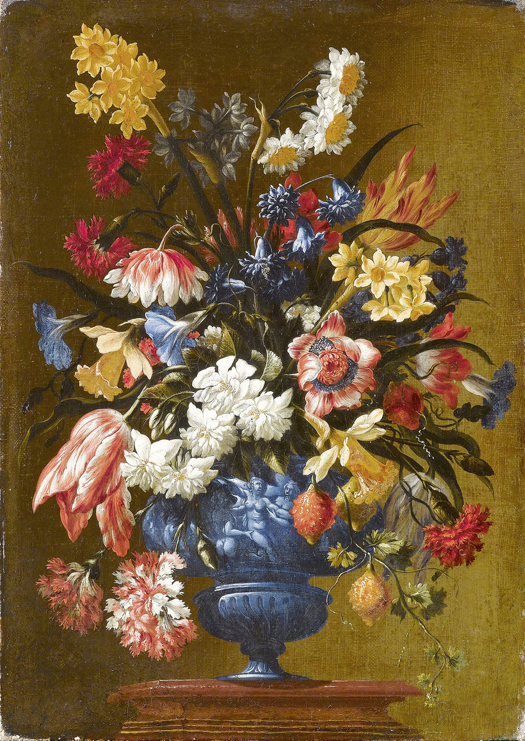 高清手绘欧美静物花卉装饰油画1
