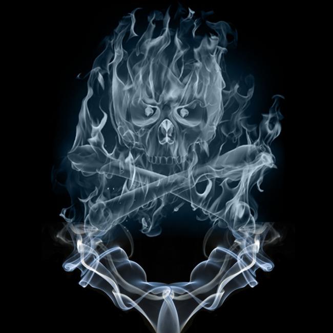 透明的骷髅设计模板图片下载 透明 骷髅 骨头 烟雾 (650x650)图片