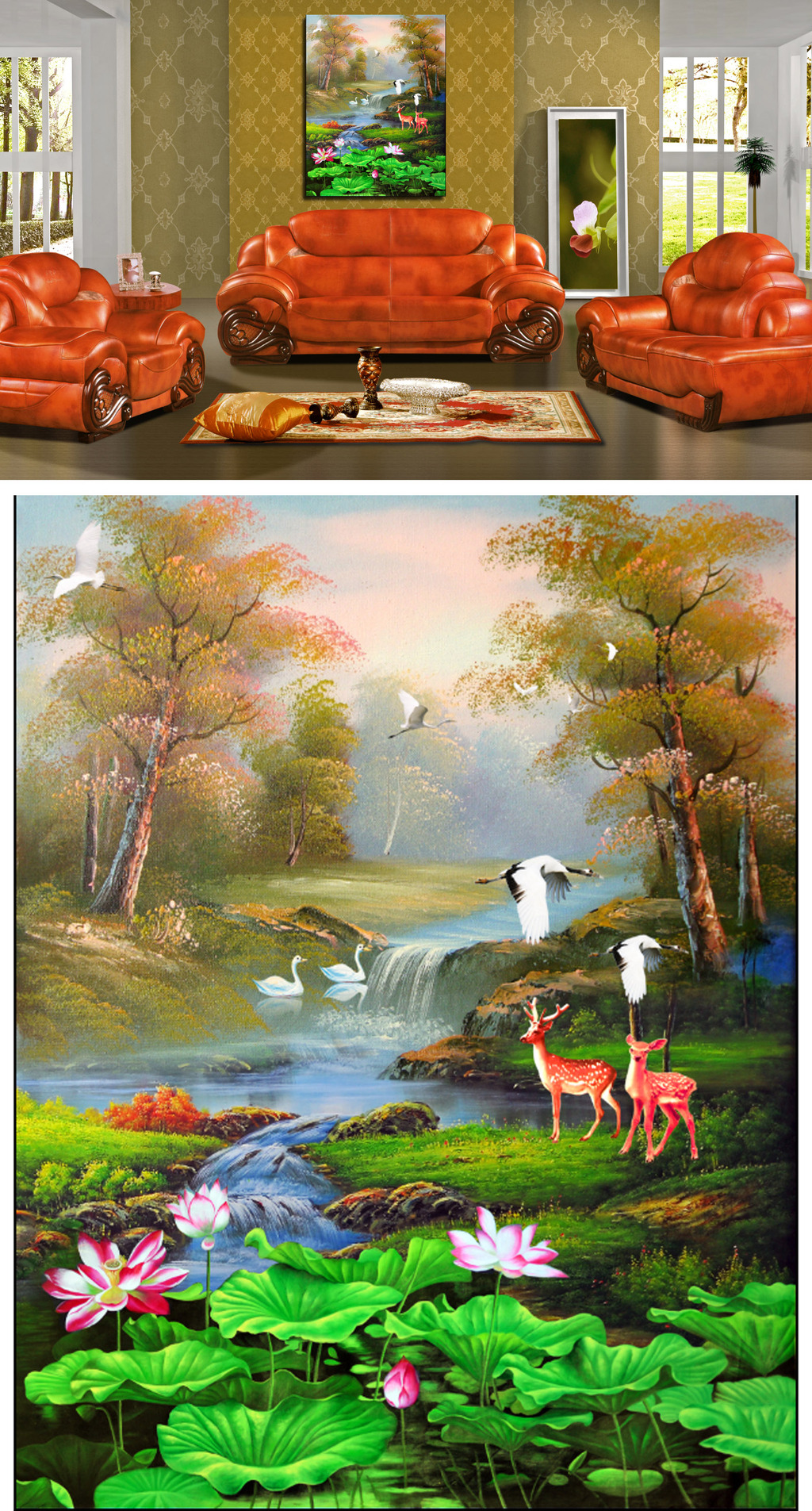 山水油画风景画