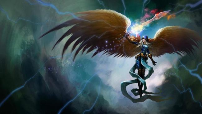 英雄联盟天使 英雄联盟 天使 lol lol游戏人物 游戏人物 游戏 动漫