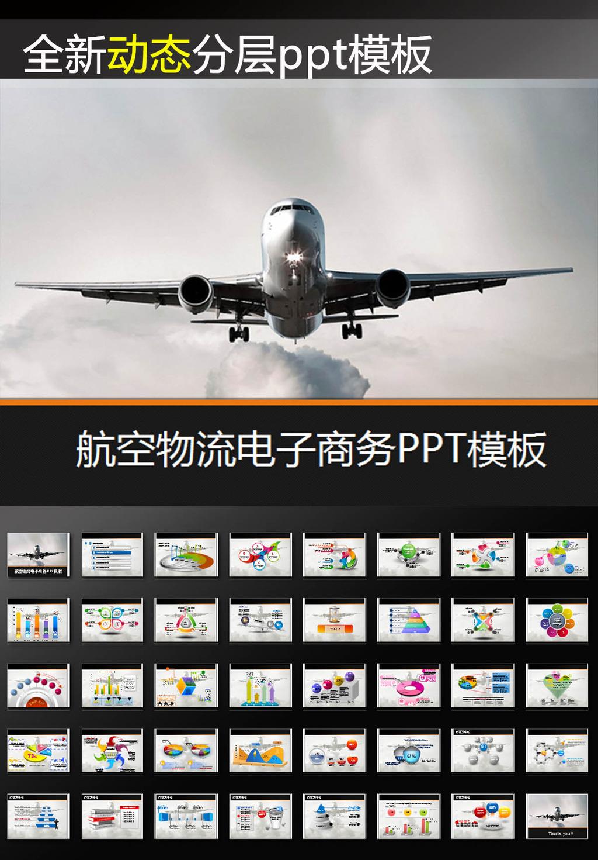 航空物流电子商务动态ppt模板