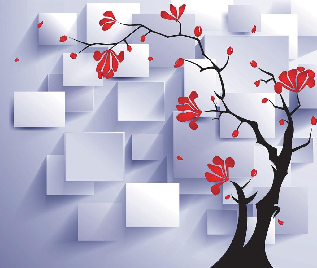 3d立体树背景图