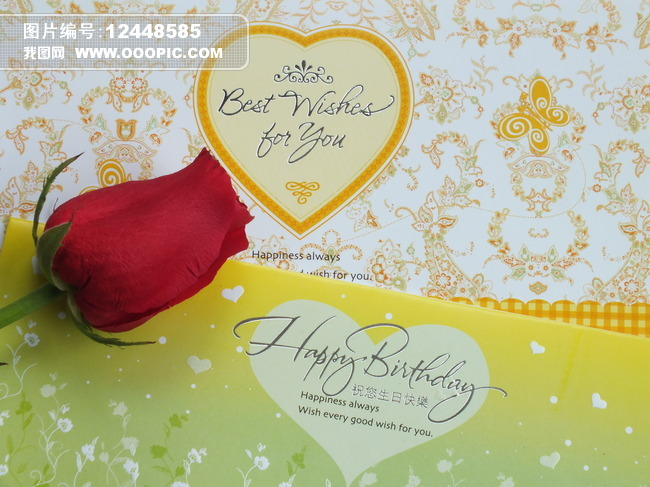 英语手绘生日贺卡
