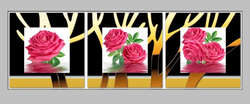 玫瑰花客厅装饰画图片