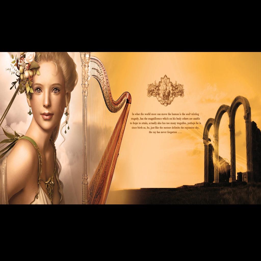 欧式花纹 油画美女