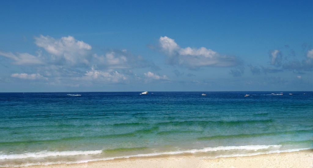 大海沙滩简笔画彩色