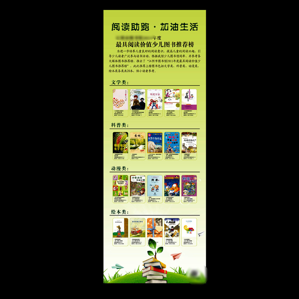 儿童绘本馆宣传展板