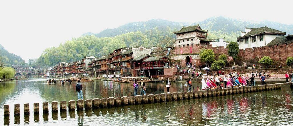 湖南凤凰古城图
