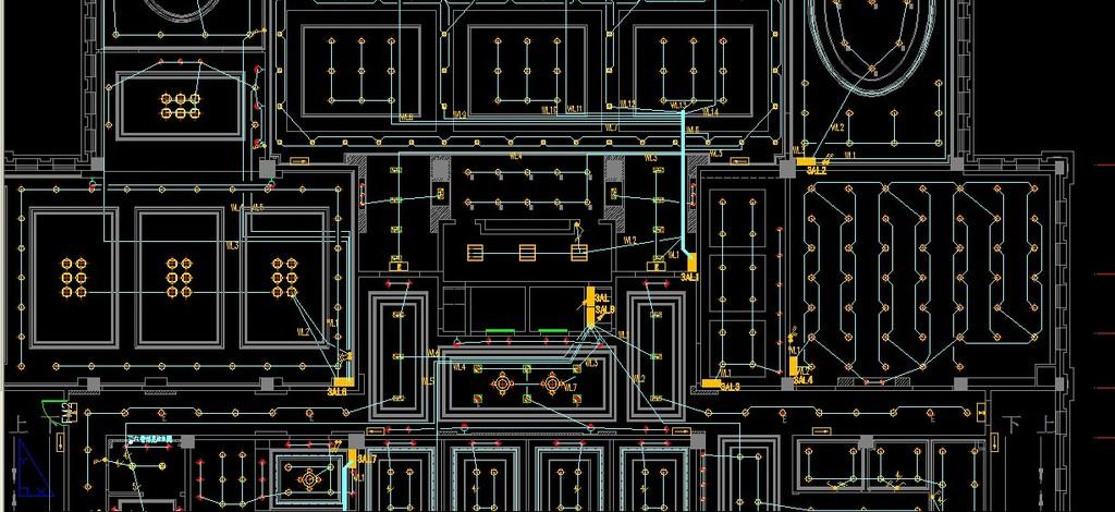 某售楼处照明,弱电,消防cad设计图