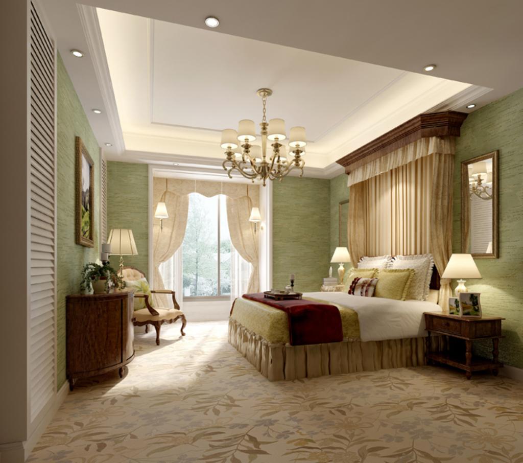 小清新欧式卧室图片下载