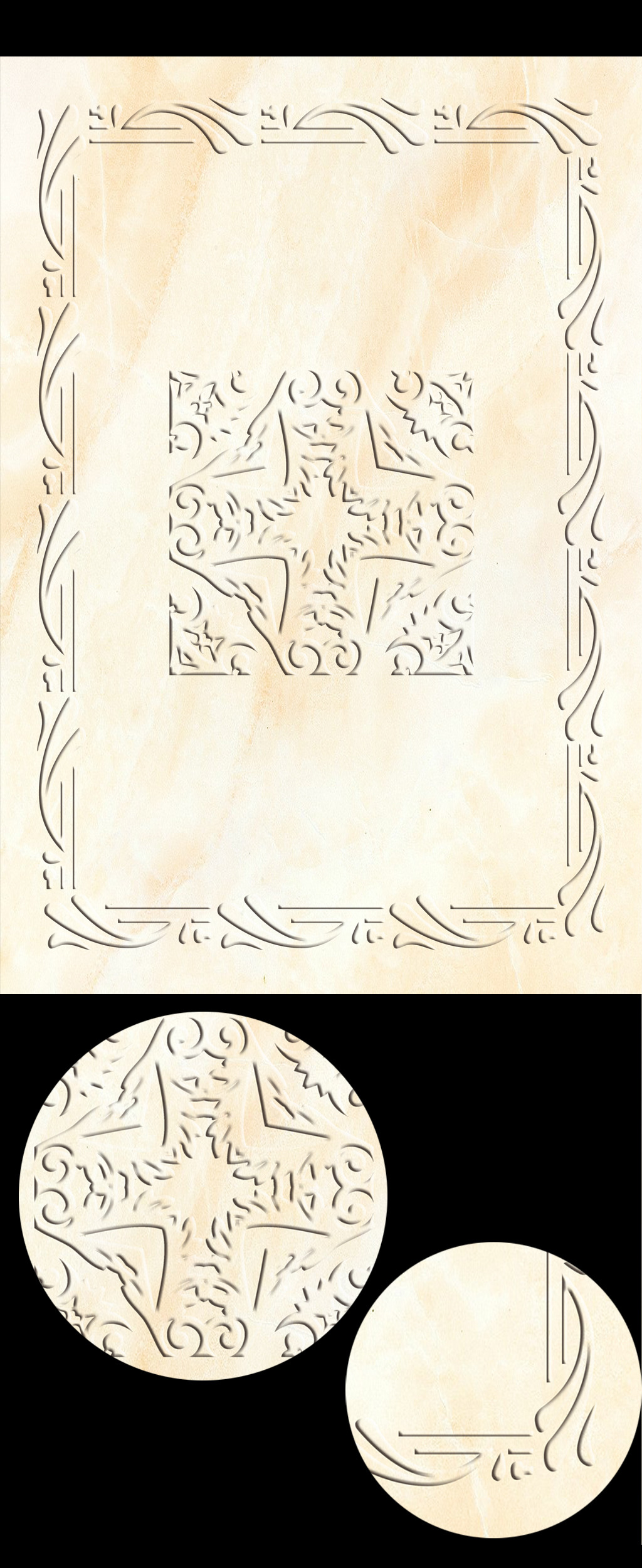 欧式简单花纹吊顶设计