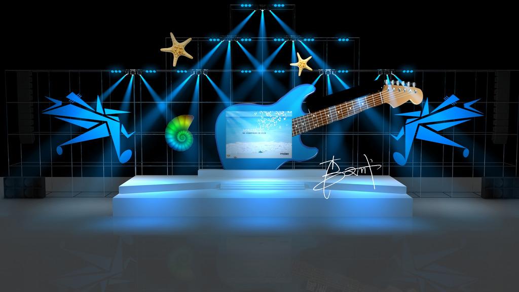 音乐节舞台舞美设计效果图1