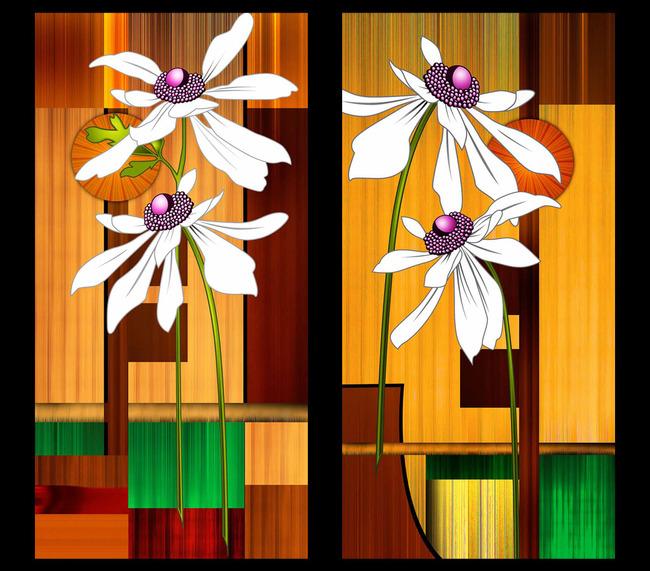 红菊 葵花 花瓶