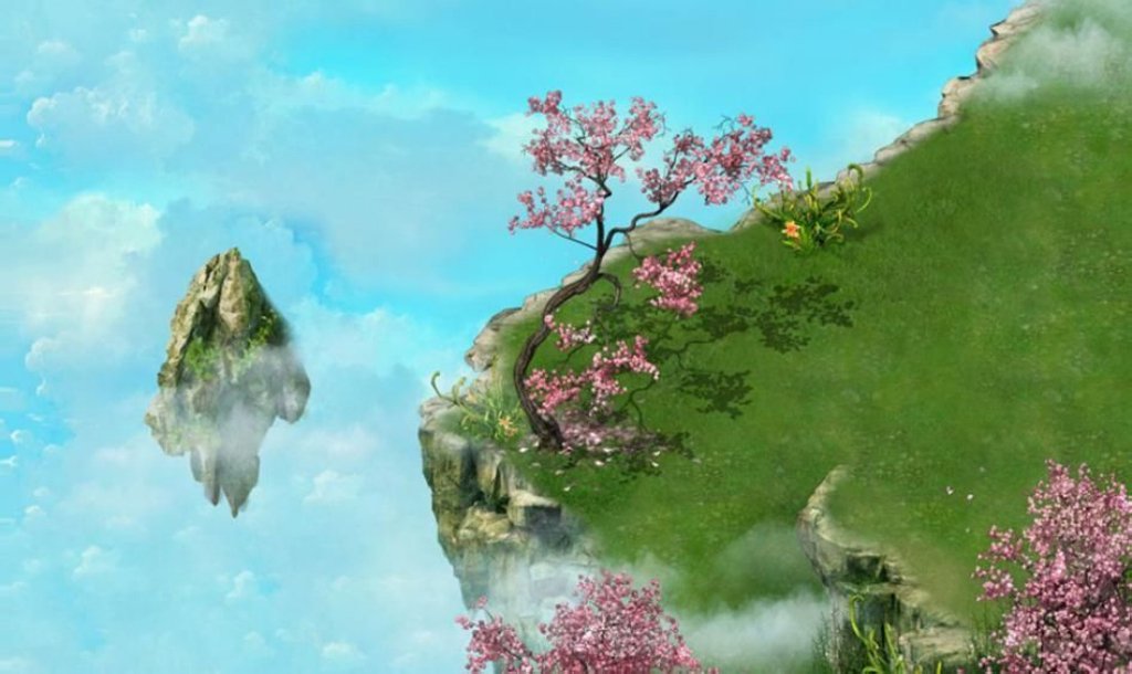 网页游戏场景,悬崖,游戏动画模板下载