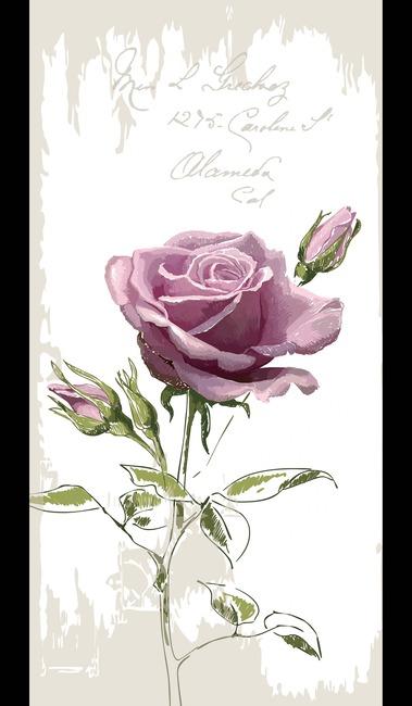 手绘玫瑰花欧式玄关背景墙高清图片下载(图片编号)__.