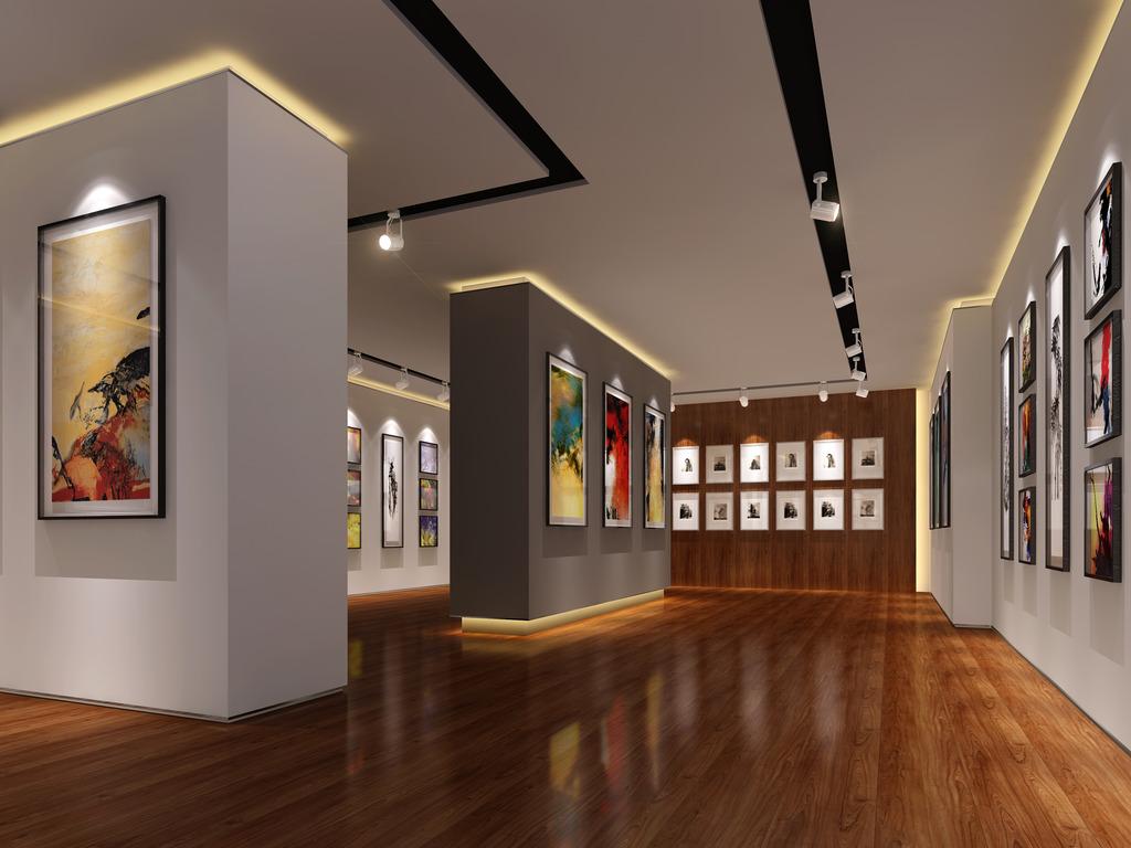 画展展厅设计效果图2图片下载画展展厅设计 画展展厅效果图 画廊设计