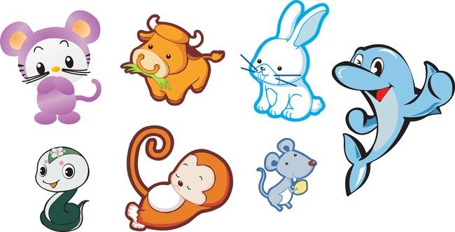 卡通小动物模板下载(图片编号:12470722)