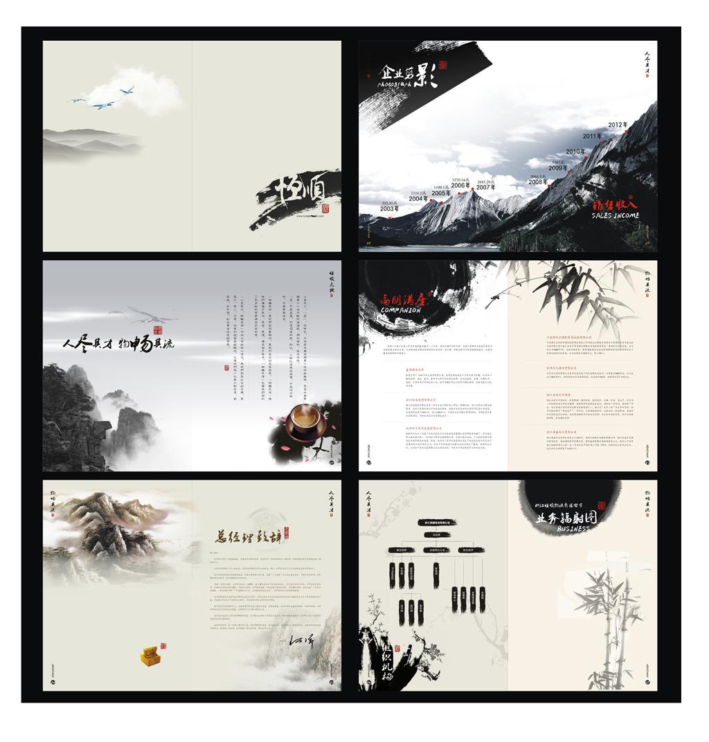 中国风政府企业文化画册宣传册图片