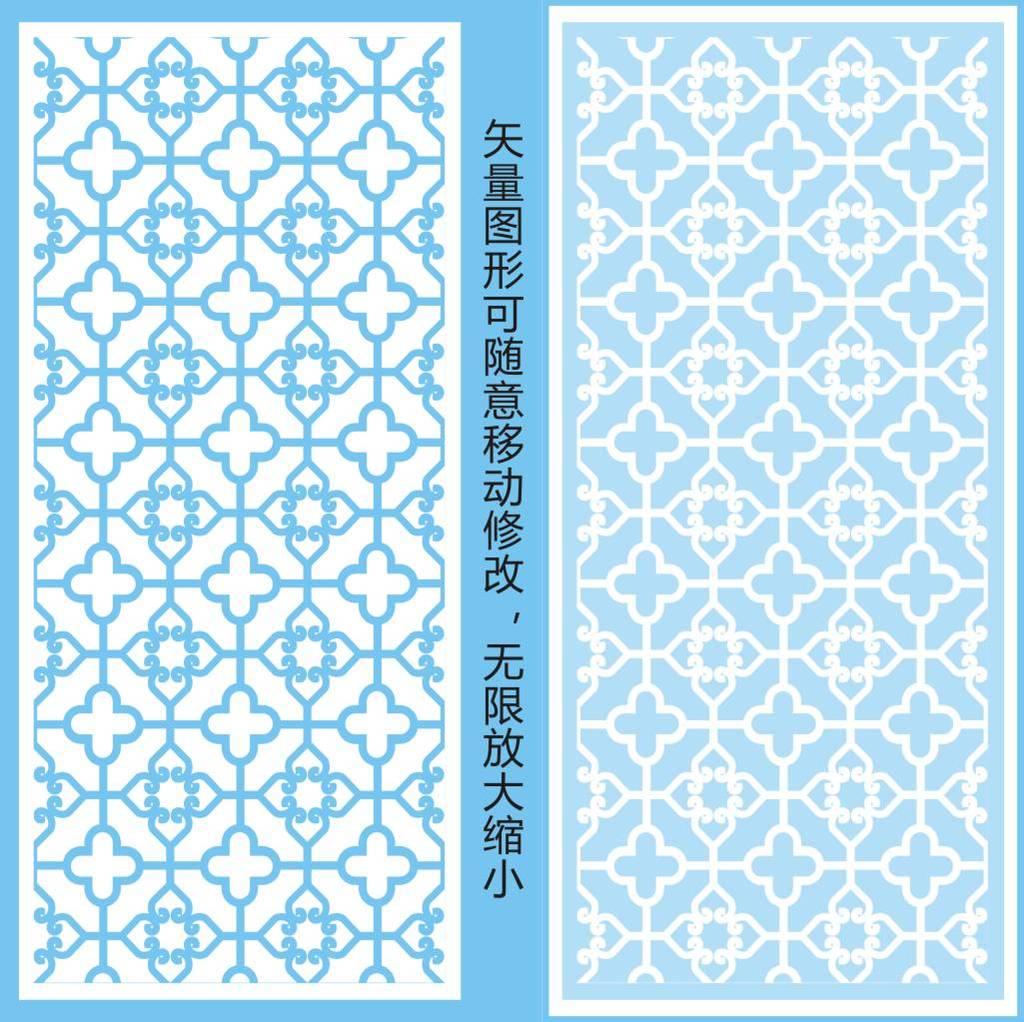 背景墙|装饰画 隔断|屏风 雕花镂空隔断 > 铁艺花式玻璃磨砂花纹