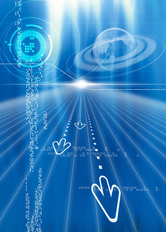 蓝色科技背景模板下载(图片编号:12476746)_海报背景