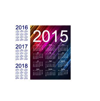2015日历2016年日历2017年日历2018年日历表图片