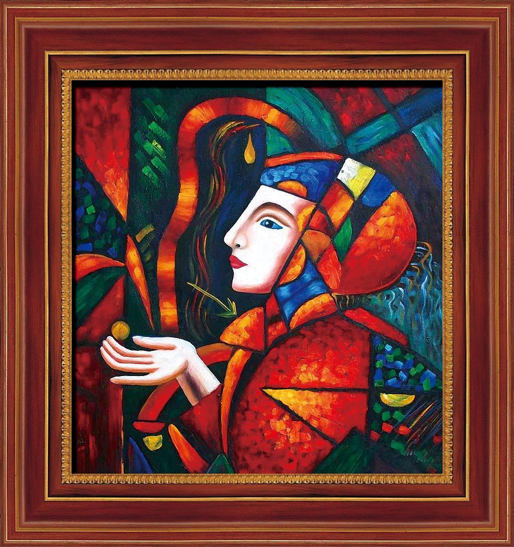 古典抽象人物油画