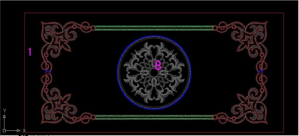 陶瓷拼图 腰线cad图片