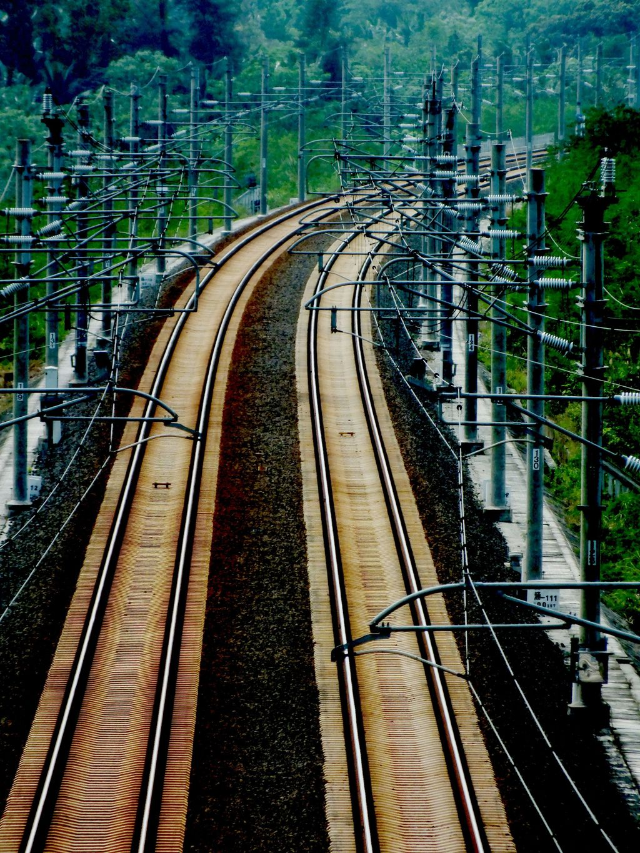 轨道 铁路 火车轨 红绿灯 交通设施 火车 火车轨道 高铁 高速铁路