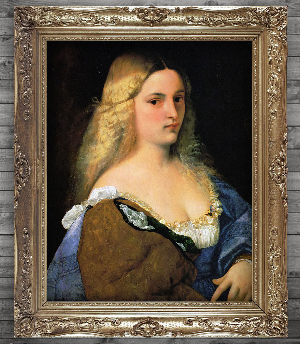 欧洲贵族公主少女手绘