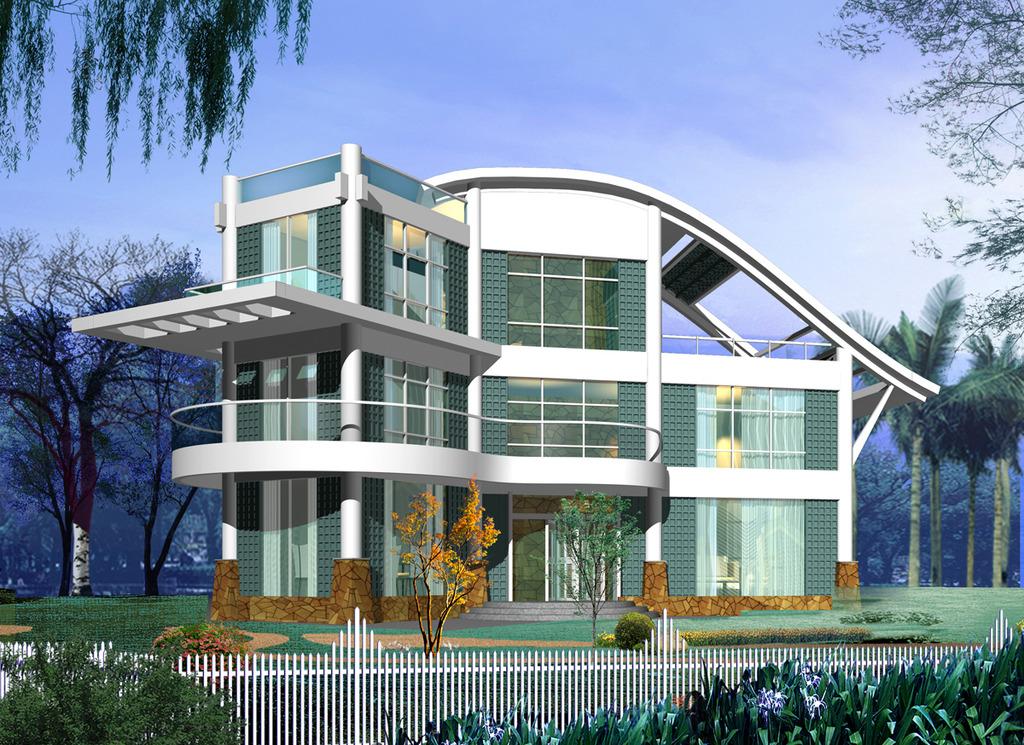 室内设计 cad图库 别墅cad图纸 > 现代别墅风格施工图下载  下一张&