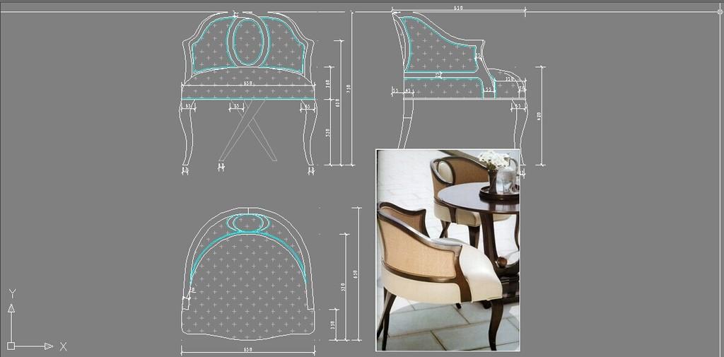 图纸欧式家具欧式家具cad现代家具沙发椅子展示台