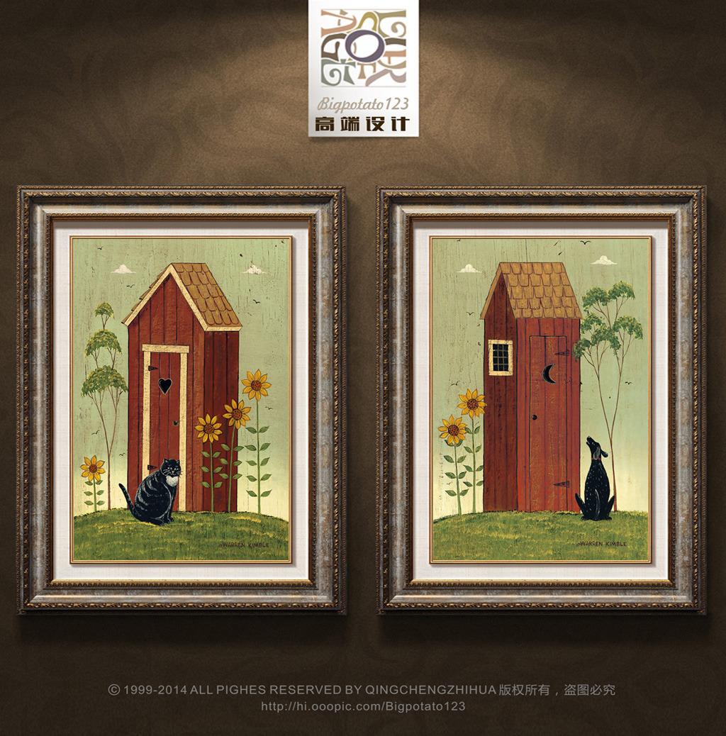 美式复古乡村田园装饰画图片