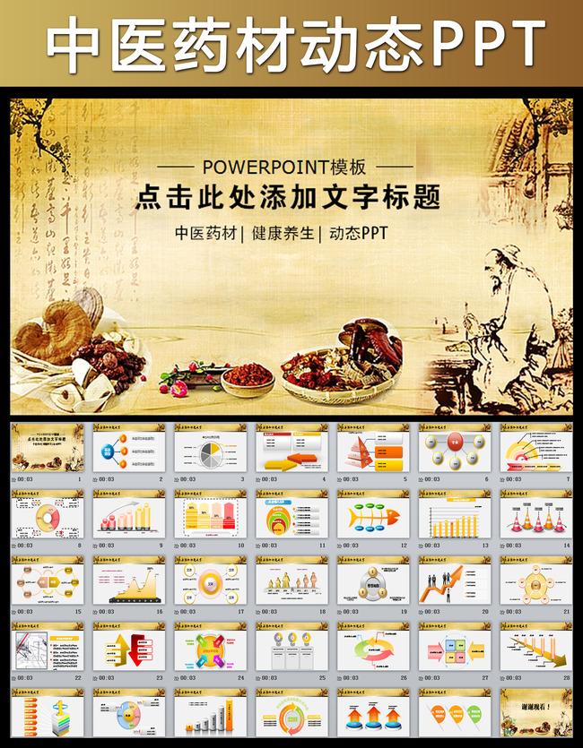 中医养生保健食疗动态ppt模板