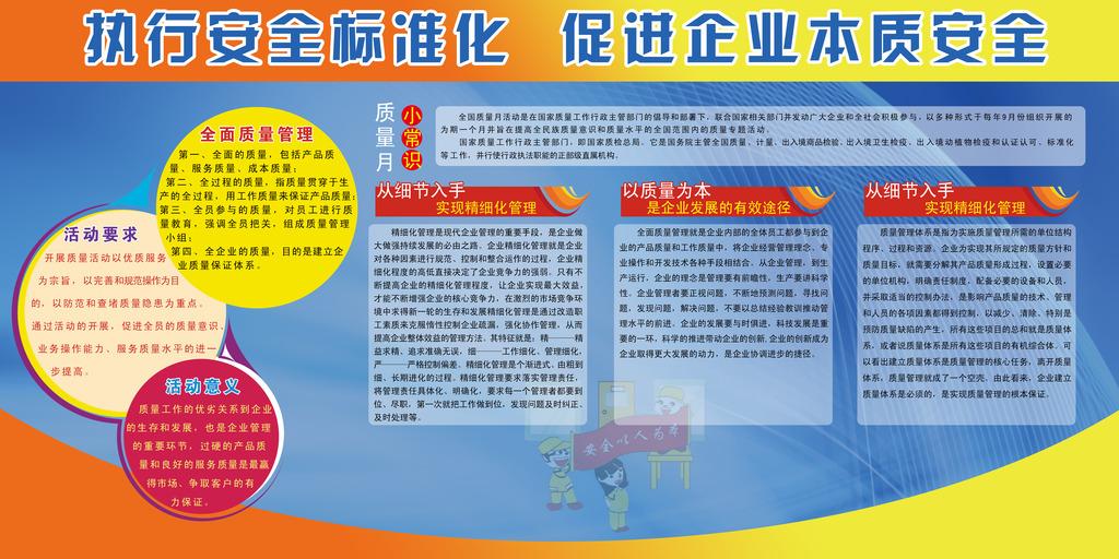 2014中国质量月展板宣传栏psd模板