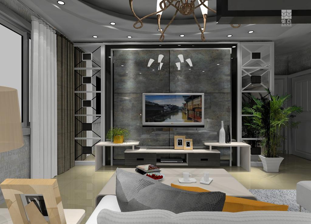 室内设计电视背景墙效果图